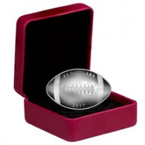 2017 Canada Football-Shaped 1 oz Silver Proof $25 Coin GEM Proof (OGP)