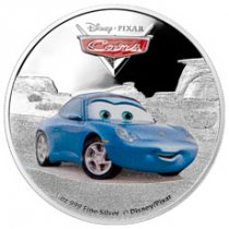 2017 Niue Disney Cars - Sally 1 oz Silver Colorized Proof $2 Coin GEM Proof (OGP)