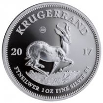 2017 South Africa 1 oz Silver Krugerrand Proof Coin GEM Proof OGP