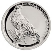 2017 Australia 1 oz Silver Wedge-Tailed Eagle $1 GEM BU Original Mint Capsule