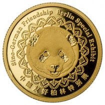 2017-(S) China Berlin World Money Fair 8 g Gold Show Panda Proof Medal GEM Proof Original Mint Capsule