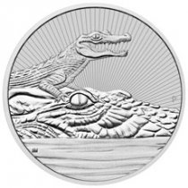 2019-P Australia 2 oz Silver Mother & Baby Crocodile - Piedfort $2 Coin BU