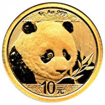 2018 China 1 g Gold Panda ¥10 Coin GEM BU Mint Sealed