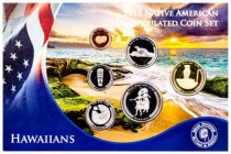 2018 Native American Hawaiian Tribe - 6-Coin Set GEM BU