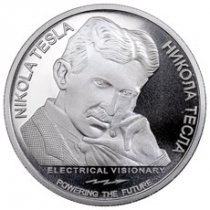 2018 Serbia Nikola Tesla - Alternating Current 1 oz Silver Coin GEM BU
