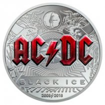 2018 Cook Islands AC/DC - Black Ice 2 oz Silver Proof $10 Coin GEM Proof OGP