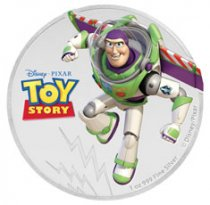 2018 Niue Disney Toy Story - Buzz Lightyear 1 oz Silver Colorized Proof $2 Coin GEM Proof OGP