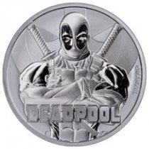 2018 Tuvalu Deadpool 1 oz Silver Marvel Series $1 Coin GEM BU