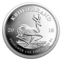 2018 South Africa 1 oz Silver Krugerrand Proof R1 Coin GEM Proof