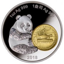 2018 China Philadelphia ANA World's Fair of Money Show Panda 1 oz Silver Proof Medal GEM Proof