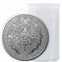 Roll of 20 - Golden State Mint Aztec Calendar 1 oz Silver Round GEM BU