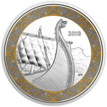 2018 Canada Norse Figureheads - Dragon's Sail 1 oz Silver Colorized Proof 20 Coin GEM Proof OGP