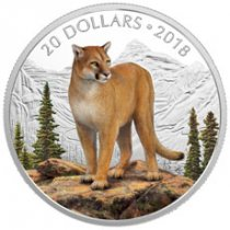2018 Canada Majestic Wildlife - Courageous Cougar 1 oz Silver Proof $20 Coin GEM Proof OGP