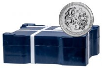 Monster Box of 400 - 2018 Niue 1 oz Silver Double Dragon - Pearl of Wisdom $2 Coins GEM BU