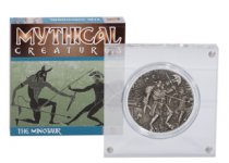 2018 British Indian Ocean Territory Mythical Creatures - The Minotaur Ultra High Relief 2 oz Silver Antiqued Proof £4 Coin GEM Proof OGP