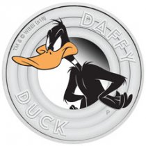 2018 Tuvalu Looney Tunes - Daffy Duck 1/2 oz Silver Colorized Proof $0.50 Coin GEM Proof OGP