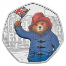 2018 Great Britain Paddington Bear - At Buckingham Palace 8 g Silver Proof 50p Coin GEM Proof