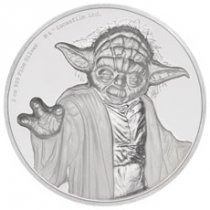 2018 Niue Star Wars - Yoda Ultra High Relief 2 oz Silver Colorized Proof $5 Coin GEM Proof OGP