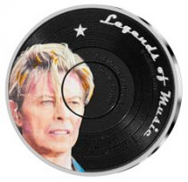 2019 Solomon Islands Legends of Music - David Bowie 1 oz Silver Colorized Sid Maurer $5 Coin GEM Proof