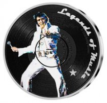 2019 Solomon Islands Legends of Music - Elvis Presley 1 oz Silver Colorized Sid Maurer $5 Coin GEM Proof
