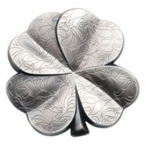 2018 Palau Fortune - Four-Leaf Clover Shaped 1 oz Silver Antiqued $5 Coin GEM BU OGP