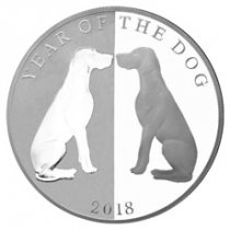 2018 Tokelau Year of the Dog Mirror Dog 1 oz Silver Lunar Proof $5 Coin GEM Proof OGP