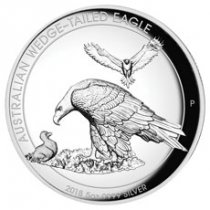 2018-P Australia 5 oz High Relief Silver Wedge-Tailed Eagle Proof $8 Coin GEM Proof OGP