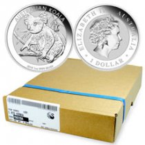 Monster Box of 100 - 2018-P Australia 1 oz Silver Koala $1 Coins GEM BU