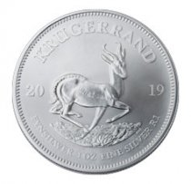 2019 South Africa 1 oz Silver Krugerrand 1 Coin GEM BU