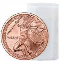 Roll of 20 -  Golden State Mint Spartan 1 oz Copper Round GEM BU