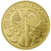2019 Austria 1 oz Gold Philharmonic €100 Coin GEM BU