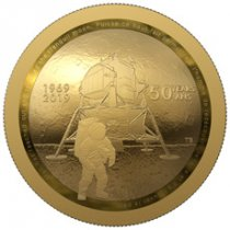 2019 Canada Apollo 11 Domed - 50th Anniversary 1/2 oz Gold Proof $100 Coin GEM Proof OGP