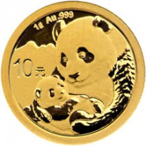 2019 China 1 g Gold Panda ¥10 Coin GEM BU