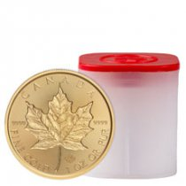 Roll of 10 - 2019 Canada 1 oz Gold Maple Leaf - Incuse $50 Coins GEM BU