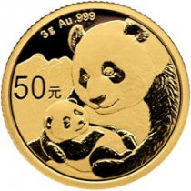 2019 China 3 g Gold Panda ¥50 Coin GEM BU