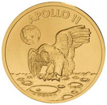 1969-2019 Apollo 11 50th Anniversary Robbins Medals 1/2 oz Gold Matte Proof Medal GEM Proof