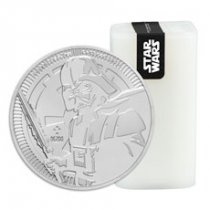 Roll of 25 - 2019 Niue Star Wars Classic - Darth Vader 1 oz Silver $2 Coins GEM BU