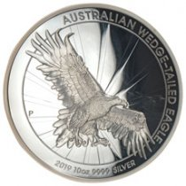 2019 Australia 10 oz High Relief Silver Wedge-Tailed Eagle Proof $10 Coin GEM Proof OGP