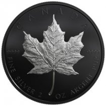2019 Canada 2 oz Silver Maple Leaf Black Proof $10 Coin GEM Proof OGP