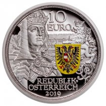 2019 Austria Knight's Tales - Chivalry 1/2 oz Silver Colorized €10 Coin GEM Proof OGP