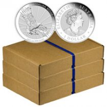 Box of 300 - 2019-P Australia 1 oz Silver Wedge-Tailed Eagle $1 Coins GEM BU