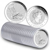 Roll of 20 - 2019-P Australia 1 oz Silver Wedge-Tailed Eagle $1 Coins GEM BU