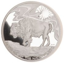 2019 Smithsonian Zoo Buffalo 1 oz Silver Medal GEM Proof