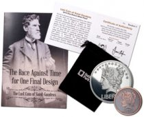 2-Coin Set - 2019 1-oz Silver Cent Saint-Gaudens Last Cent National Parks Medal Bonus 1/10-oz Copper-Nickel Antiqued Medal GEM Proof With COA & Storybook
