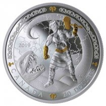 2019 Canada Norse Gods - Thor 1 oz Silver Gilt Proof $20 Coin GEM Proof OGP
