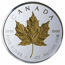 2019 Canada 1 oz Silver Maple Leaf - Incuse Gilt Reverse Proof $20 Coin GEM Proof OGP