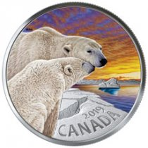 2019 Canada Canadian Fauna - Polar Bear 1 oz Silver Colorized Proof $20 Coin GEM Proof