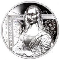 2019 France Mona Lisa High Relief 1 oz Silver Proof €20 Coin GEM Proof