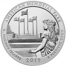 2019 American Memorial Park 5 oz. Silver America the Beautiful Coin GEM BU