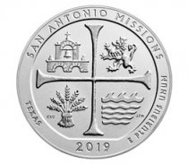 2019-P San Antonio Missions Historical Park 5 oz. Silver America the Beautiful Specimen Coin GEM Specimen OGP